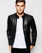 Boss Orange Boss Orange Leather Jacket - Black