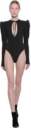 MSGM Stretch Knit Bodysuit W/cut Out