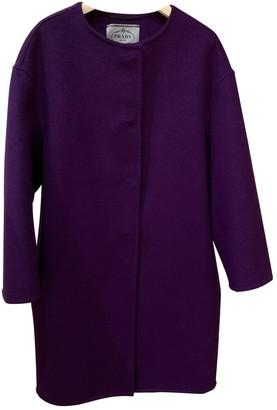 Prada Purple Wool Coats