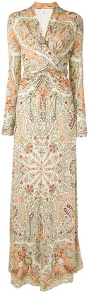 Etro Paisley-Print Ruched Dress