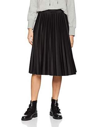 Quiz Women's Elastic Waist Skirt Pleating Plain Sleeveless Skirt,(Manufacturer Size:L)