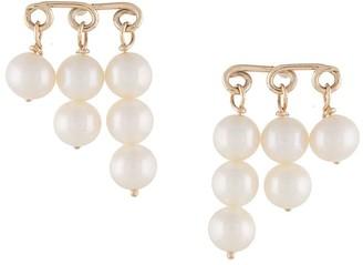 NATASHA SCHWEITZER 9kt yellow gold Penelope pearl earrings