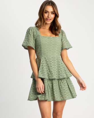 The Fated - Women's Green Party Dresses - Intertwined Mini Dress - Size One Size, 6 at The Iconic
