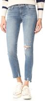 Paige Skyline Ankle Peg Jeans with Uneven Hem