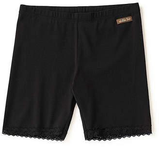 Matilda Jane Clothing Women's Casual Shorts - Black Lace-Trim Power of Positivity Shorts - Women