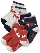 Old Navy Non-Skid Printed Socks 3-Pack for Baby