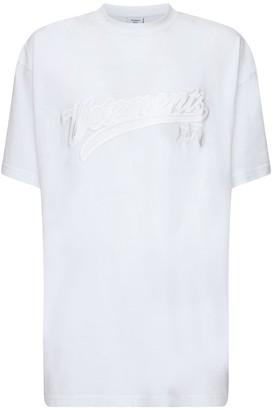Vetements Hip-Hop Logo Embroidery Cotton T-Shirt