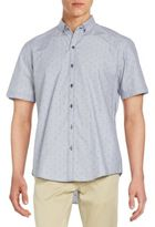 Zachary Prell Regular-Fit Lee Woven Cotton Sportshirt