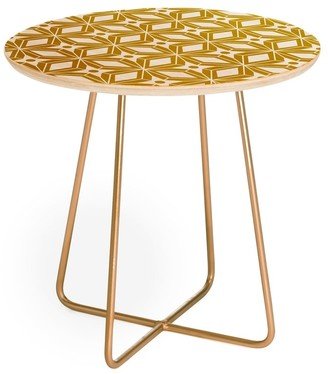 Deny Designs Heather Dutton Starbust Gold Round Side Table