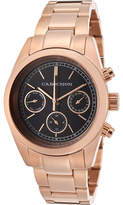 Cabochon Women's  1117 - Rose Gold Tone IP Stainless Steel/Black Watches
