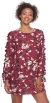 Juniors' Lily Rose Ruffle Sleeve Shift Dress