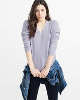 Abercrombie & Fitch Shaker V-Neck Sweater