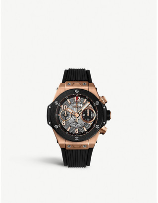 Hublot 411.OM.1180.RX Big Bang Unico 18ct rose-gold and rubber strap watch