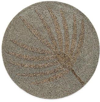 Joanna Buchanan Palm Frond Place Mat - Gold/Gray
