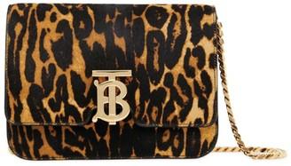 Burberry Small Leopard Print TB Bag