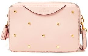 Anya Hindmarch Double Zip Studded Leather Shoulder Bag