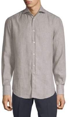 Brunello Cucinelli Slim-Fit Striped Button-Down Shirt