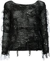 Masnada open knit jumper