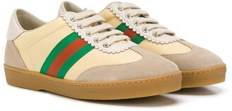 Gucci Kids Web Stripe Sneakers