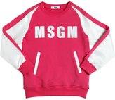 MSGM Cotton Sweatshirt W/ Duchesse Sleeves