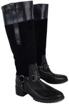 Etienne Aigner Black Leather & Suede E. Viola Boots