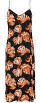 Ganni Geroux floral print slip dress