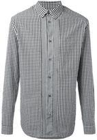 Maison Margiela contrast placket checked shirt - men - Cotton - 39