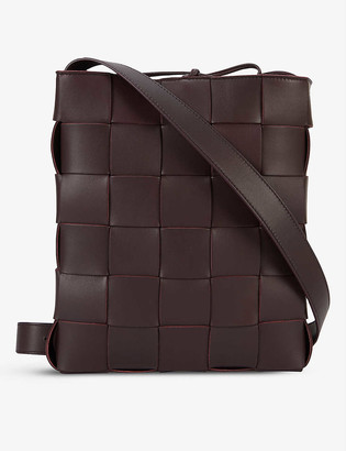 Bottega Veneta Cassette Messenger intrecciato leather cross-body bag