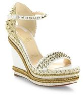 Christian Louboutin Madmonica 120 Spiked Leather Espadrille Wedge Platform Sandals