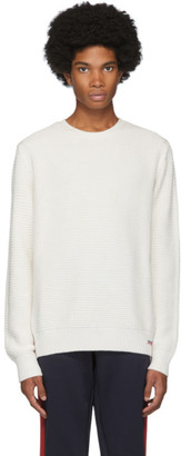 Moncler Off-White Knit Crewneck Sweater
