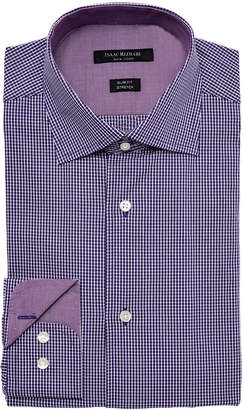 Isaac Mizrahi Slim Fit Stretch Gingham Dress Shirt