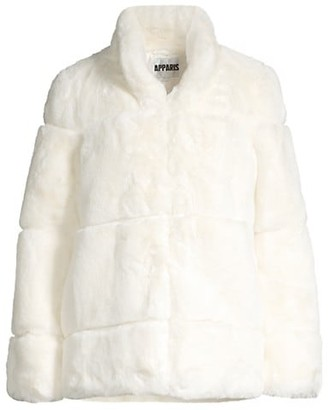 Apparis Sarah Tiered Faux Fur Short Coat