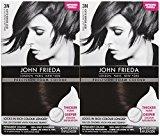 John Frieda Precision Foam Hair Colour, Deep Brown Black 3N, 2 pk