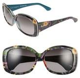 Maui Jim Women's 'You Move Me' 60Mm Polarized Sunglasses - Navy/ White/ Silk
