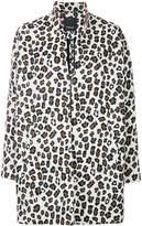 Pinko leopard print oversized coat