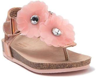 Harper Canyon Flower Applique Sandal (Toddlers)