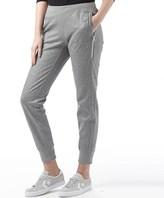 Converse Womens Long Zipper Sweat Pants Vintage Grey Heather