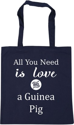 HippoWarehouse All You Need is Love and a Guinea Pig Tote Shopping Gym Beach Bag 42cm x38cm 10 litres