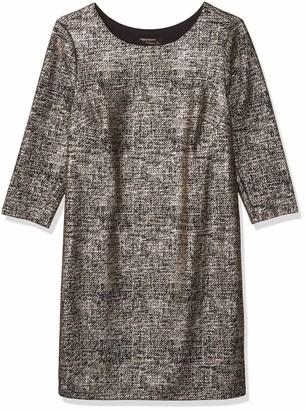 Robbie Bee Women's Missy Foil Knit Dress