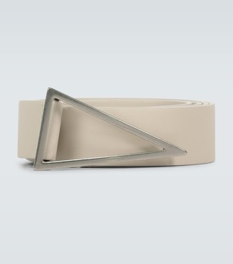 Bottega Veneta Triangle buckle leather belt