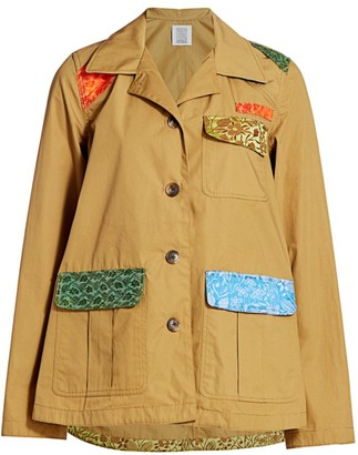 Rosie Assoulin Patchwork Safari Jacket