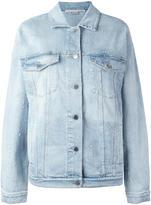 Stella McCartney embroidered star denim jacket - women - Cotton/Spandex/Elastane - 40