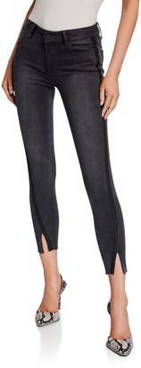 Paige Verdugo Ankle Skinny Jeans w/ Twisted Seams