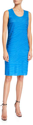 Ming Wang Knit Sleeveless Sheath Dress