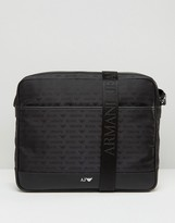 Armani Jeans All Over Logo Messenger Bag
