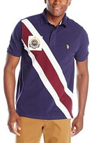 U.S. Polo Assn. Men's Diagonal-Striped Pique Polo Shirt
