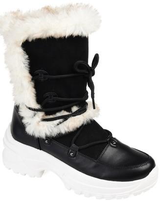 Journee Collection Polar Faux Fur Detail Boot