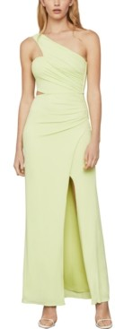 BCBGMAXAZRIA Asymmetrical-Neck Side-Cutout Dress