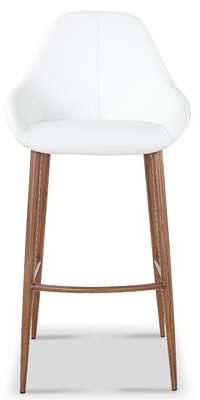 """George Oliver Bartee Modern Fabric 29.7"""" Bar Stool Seat Color: Gray"""