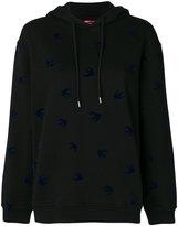McQ swallow print hoodie